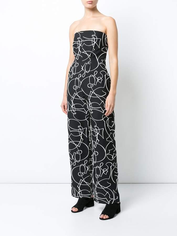 Zero Maria Cornejo printed bandeau jumpsuit