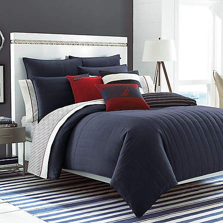 Mainsail Navy Twin Comforter Set