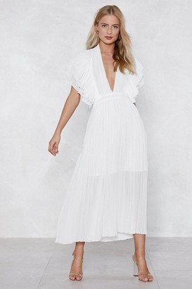Nasty Gal Backstage Pleated Dress