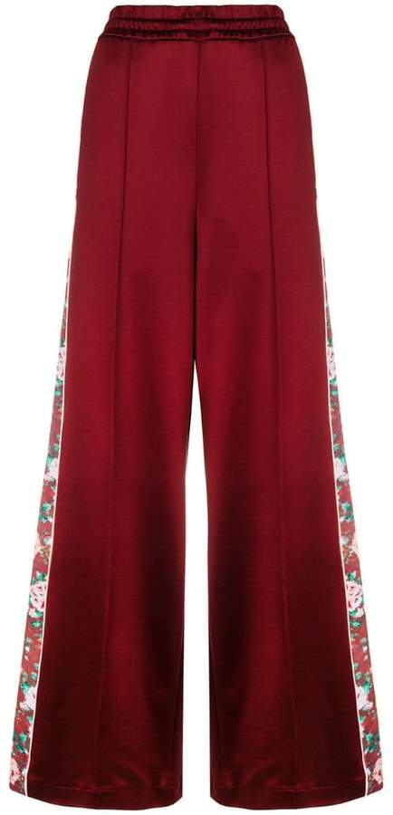 floral band palazzo trousers