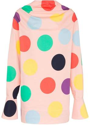 DAY Birger et Mikkelsen George Keburia Polka Dot Print Cotton Mini Dress