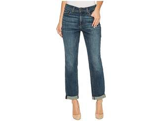NYDJ Boyfriend Jeans in Crosshatch Denim in Desert Gold