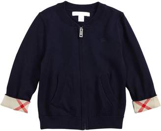 Burberry Mini Jaxson Front Zip Cotton Cardigan