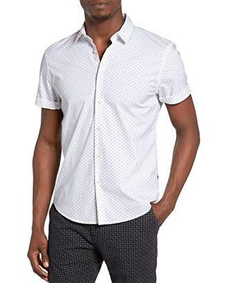 Scotch & Soda Men's Classic Shortsleeve Shirt in Cotton/Elastane Quality