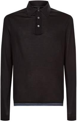 Dunhill Contrast Hem Polo Shirt