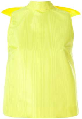 MSGM giant bow sleeveless blouse