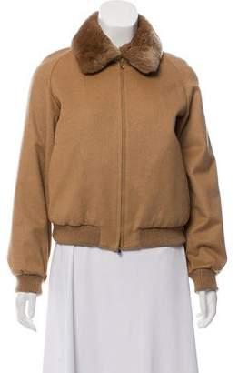 Max Mara Fur-Trimmed Camel Coat