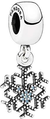 Pandora Disney Jewelry Collections Silver Cz Mickey's Sparkling Snowflake Charm