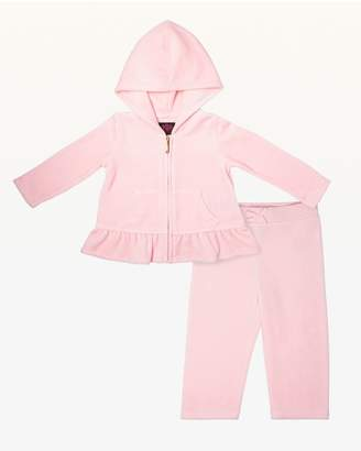 Juicy Couture Ornate Cameo Juicy Velour Peplum Track Set for Baby