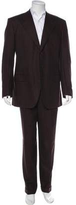 Luciano Barbera Striped Wool Suit