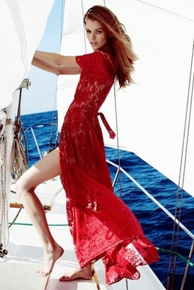 The Jetset Diaries Piazza Maxi in Ruby $288 thestylecure.com