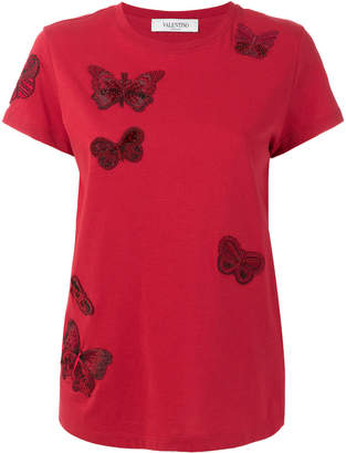 Valentino butterfly-embroidered T-shirt