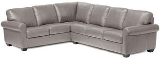 Asstd National Brand Leather Possibilities Roll-Arm 2pc. Left-Arm Corner Sofa Sectional