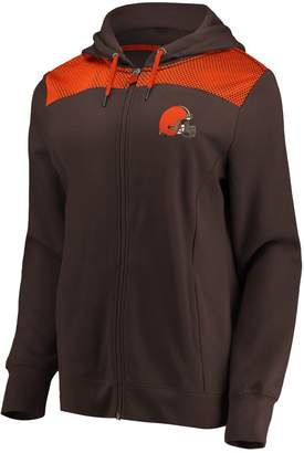 Athena Nfl Women's Cleveland Browns Hooded Full-zip Jacket