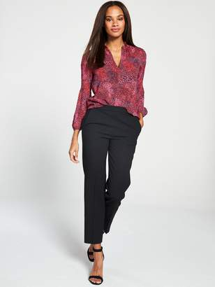 Whistles ElexisPlunging Abstract Animal Dobby Blouse - Red