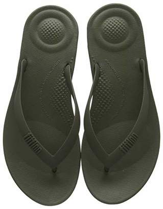 FitFlop Men's IQUSHION Ergonomic FLIP-Flops Closed Toe Sandals, (Camouflage Green), 42 EU