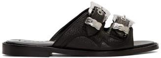 McQ Black Moon Buckle Sandals