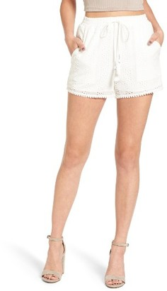 Women's J.o.a. Embroidered Eyelet Shorts $65 thestylecure.com