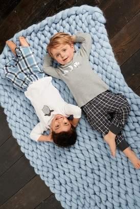 Next Boys Grey Character Check Pyjamas Two Pack (9mths-8yrs)