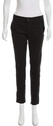 Stella McCartney Mid-Rise Velvet-Accented Jeans w/ Tags