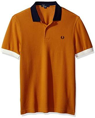 Fred Perry Colour Block Pique Short Sleeve 100% Cotton Shirt