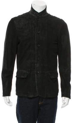 AllSaints Layered Suede Jacket