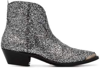 Golden Goose silver Young 50 glitter embellished cowboy boots