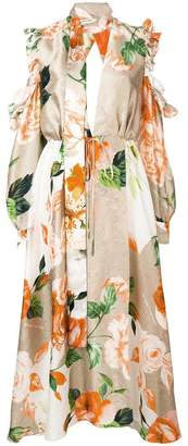 Off-White floral printed loose dress