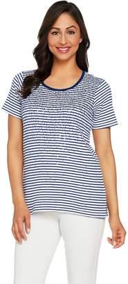 Factory Quacker Striped Sequin Short Sleeve T-shirt
