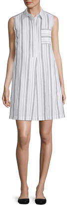 Liz Claiborne Spring Bouquet Sleeveless Shirt Dress