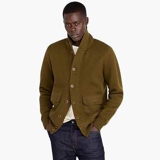 J.Crew Wallace & Barnes felted merino wool shawl cardigan sweater
