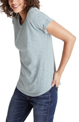 Women's Madewell Whisper Cotton Stripe Tee $24.50 thestylecure.com