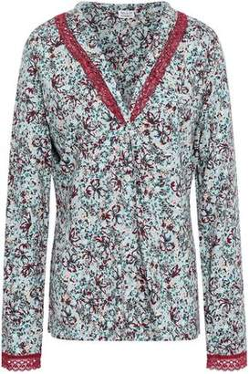 Cosabella Printed Pima Cotton And Modal-blend Pajama Top