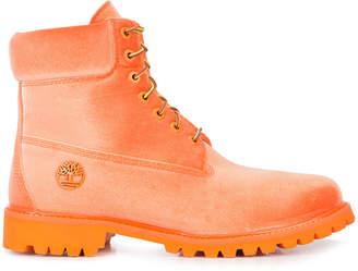 Timberland 6 Boot Off White Orange Velvet