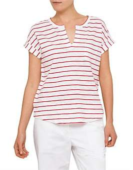 David Jones Stripe Pocket Tee