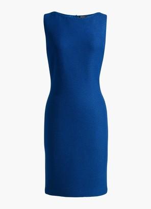 St. John Sleeveless Gridded Texture Knit Dress