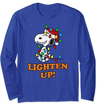 Peanuts Snoopy Christmas Lighten Up Long Sleeve T-shirt