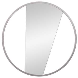 """Patton Wall Decor 16"""" Geometric Cut Out Round Metal Wall Accent Mirror"""