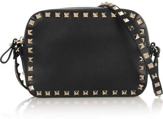 Valentino - The Rockstud Leather Shoulder Bag - Black $1,395 thestylecure.com