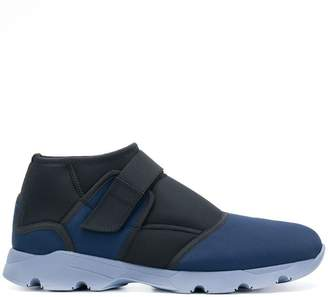 Marni two tone touch strap sneakers