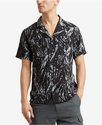 Kenneth Cole New York Kenneth Cole Men's Palm-Print Pocket Shirt