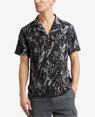 Kenneth Cole Men's Palm-Print Pocket Shirt