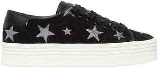 Saint Laurent 40mm Court Classic Stars Suede Sneakers