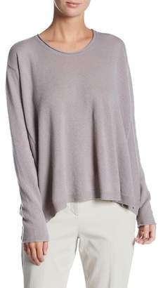 Inhabit Luxe Swing Crew Neck Cashmere Sweater $374 thestylecure.com