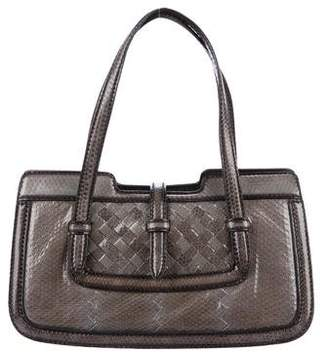 Bottega Veneta Snakeskin Intrecciato Handle Bag