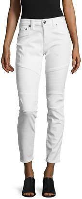 True Religion Women's Cropped-Cut Jeans/White