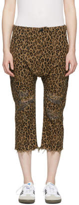 R 13 Brown Leopard Utility Trousers