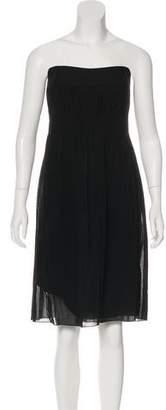 Akris Punto Wool Strapless Dress