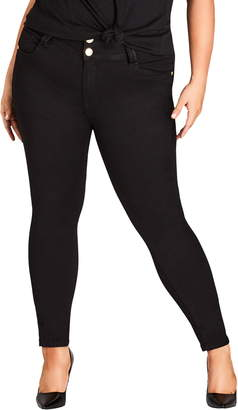 City Chic Asha High Rise Ankle Skinny Jeans
