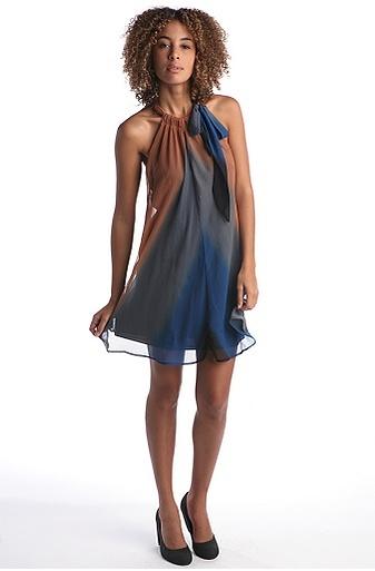 Issho Chiffon Ombre Dress